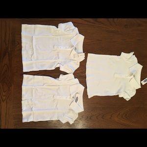 NWT Three White Polo Shirts - Girl Cut